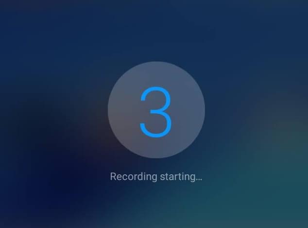 Countdown record screen Galaxy S10