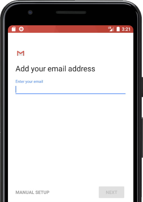 E-mail account options Gmail