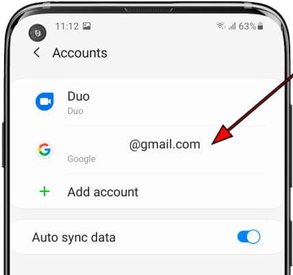List accounts Samsung