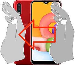 Screenshot in  Samsung Galaxy A01