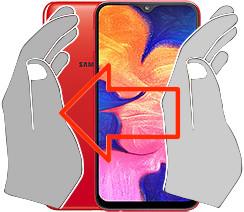 Screenshot in  Samsung Galaxy A10