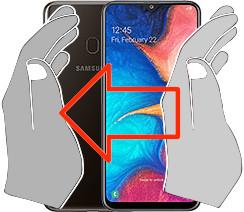 Screenshot in  Samsung Galaxy A20