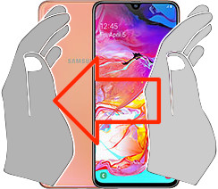 Screenshot in  Samsung Galaxy A70